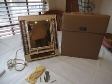 GE lighted VINTAGE mirror makeup IM-2 deluxe carry case 4 light settings swivel