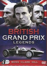 British Grand Prix Legends 3 DVD Boxset Stirling Moss Jim Clark and Graham Hill