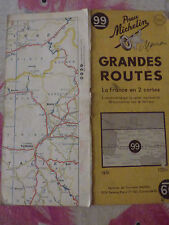 Carte michelin 99 grandes routes france sud  1951 2