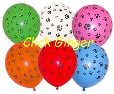 Paw Print Balloon (x6) White Blue Pink Red Green Orange Paw Patrol Scooby Doo