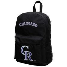 "60% OFF Genuine MLB Colorado Rockies ""Sprint"" Backpack (Black) Unisex Adjustable"