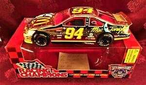 BILL ELLIOTT 1998 #94 McDonalds Mac Tonight Gold 1/24 Hood Open Diecast Car 50th