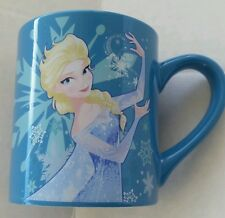Disney Frozen Queen Elsa Snowflake Princess Blue Ceramic Coffee Tea Mug Cup New