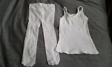 Gilrs vest and tights,up to 2yrs,by unknown,used