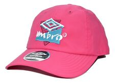 Umbro Soccer Lightweight Relaxed Fit Pink Adjustable Cap Hat with Retro Logo