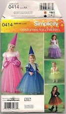 Uncut Princess Witch Toddler Halloween Costume Pattern Simplicity 0414 2569