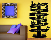 Wall Stickers Storybook Signpost Harry Potter Lord Of ring vinyl decal Nursery