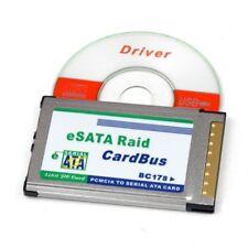 CARDBUS PCMCIA 32 Bits SATA eSATA 2 ports  VIA VT6421