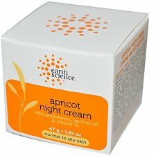 Earth Science Apricot Night Cream with Deeply Hydrating Apricot & Vitamin E 47g