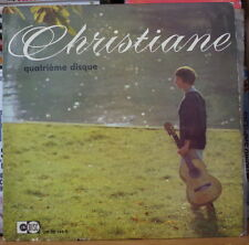 CHRISTIANE QUATRIEME DISQUE WITH LYRICS 25cm FRENCH LP UNIDISC