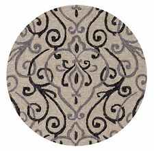 7'x9' Loloi Rug Francesca Polyester Ivory Grey Hand Hooked Transitional FC-18
