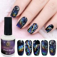 15ml Nail Art Glue Gel Galaxy Star Adhesive For Foil Sticker Transfer Tips DIY