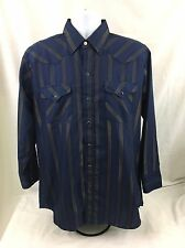 Panhandle Slim Men's Western Long Sleeve Pearl Snap Shirt 16.5-33 Ranch And Town
