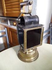 Vintage lamp lampe lanterne a carbure chemin de fer train gare SNCF Butin Paris