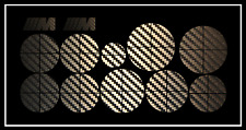 BMW 3D CARBON EMBLEM Aufkleber Set Sticker inklusive  2x ///M Aufkleber 32x12mm