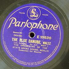 "78rpm 12"" BERLIN STATE OPERA strauss blue danube waltz 1&2 , ed moerike E10636"