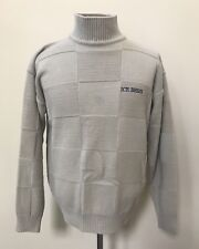 Mens Iceberg sweater Mickey Mouse History Large L beige tan square design