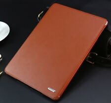 Genuine leather stand case cover for ipad Air1 2017 ipad A1822 KQ-02 Brown Color
