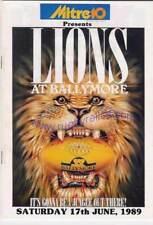 British Lions v Queensland 17 Jun 1989 Brisbane RUGBY PROGRAMME