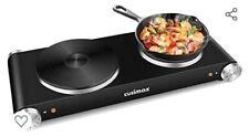 Cusimax 8452871177 1800W Portable Double Burner Electric Stove