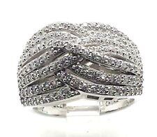 QVC Affinity Diamonique Shiny CZ Sterling Silver 925 Ring 8g Sz7 M5522
