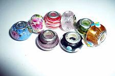 12 x European Bead MIX freie FARB WAHL Murano Glas Porzellan Advent NEU + TOP