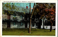 Vintage 1920's Old Stone Barracks Built 1777 Frederick Maryland MD Postcard