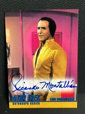 Ricardo Montalban as KHAN Rare STAR TREK TOS Season 1 AUTOGRAPH Card #A17