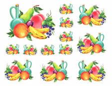 Vintage Image Shabby Kitchen Fruit Waterslide Decals KI313
