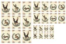 Stanzteile-Kartenaufleger-Scrapbooking-Basteln-Vintage-Ostern-Hase-Rabbit-40059