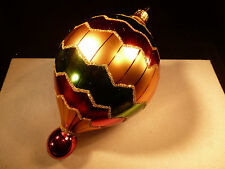 """Large 8"""" Christopher Radko Air Balloon Drop Ornament Limited Edition"""