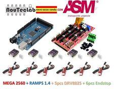 RAMPS 1.4 Control Panel + Mega 2560 R3 + 5pcs DRV8825 Stepper + 6pcs Endstop