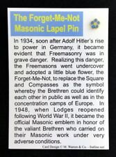 Forget-Me-Not Lapel Pin with Story Card (MFL-1C)