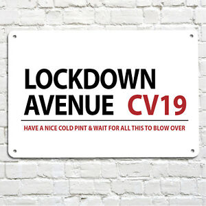 Lockdown Avenue street Bar sign wall Metal Wall A4 Bar Sign