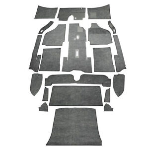 1956-1968 RHD VW Karmann Ghia Sedan Carpet Kit 20pc , Message Color Choice