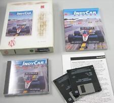 """IndyCar racing Papyrus 3,5"""" disquete & CD primero Bigbox tirada PC MSDOS"""