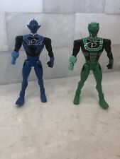 Lot Of 2 Power Rangers Blue Green Figure Bandai 2007