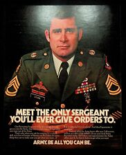 1985 Army Recruiting Sergeant photo Be All You Can Be military vintage print ad