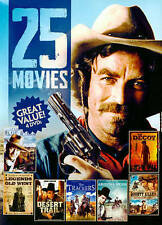 25 Westerns Movies 4-Disc John Wayne+Tom Seleck Cowboys Brand New Factory Sealed