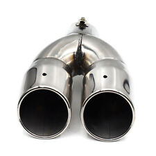 "61mm/2.4"" Stainless Steel Auto Car Rear Dual Exhaust Pipe Tail Muffler Tip Cool"