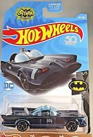 2018 Hot Wheels #307 Batman 5/5 TV SERIES BATMOBILE Black/Blue w/Black MC5 Spoke