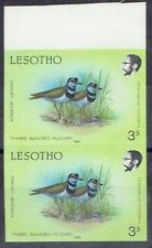 Lesotho 1988 Birds 3s imperforate pair unhinged mint