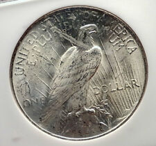 1922 US Silver PEACE DOLLAR Large United States Coin LIBERTY & EAGLE NGC i70568
