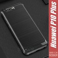 Cover Custodia Huawei P10 Plus Case Funda Coque Bumper Silicone Carbon Noziroh