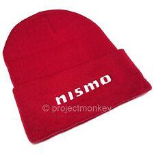 Nismo KWA05-50D10-RD Logo Red Beanie Hat Skull Cap JDM Genuine