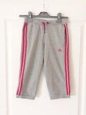 Pantacourt Adidas gris/rose - 9/10 ans