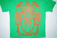 MARITHE FRANCOIS GIRBAUD NYC Green Orange Mens T-Shirt 2XL Boom Box Cassettes