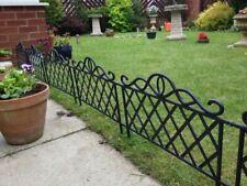 4 8 12 Flexible Garden Lawn Grass Edging Picket Border Panel Plastic Wall Fence
