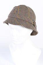 Vintage Form Treu 1980s Fashion Lined Buckle Brim Winter Hat  Multi - HAT975