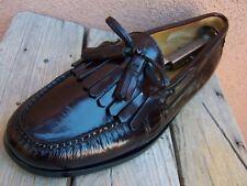 COLE HAAN Mens Dress Shoes Dark Burgundy Casual Slip On Tassel Loafer Sz Size 9D